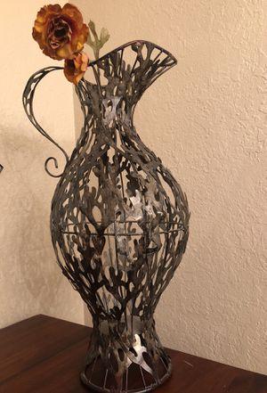 Vintage Peruvian Metal Vase for Sale in Tampa, FL