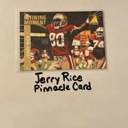 Jerry Rice San Francisco 49ers Hall of Fame WR Pinnacle Card. Thumbnail