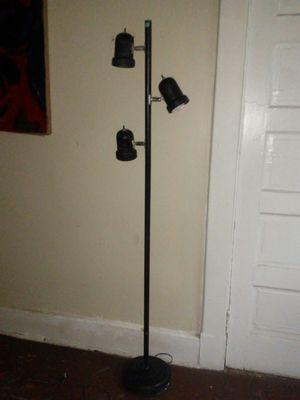 Three light black floor lamp for Sale in Richmond, VA