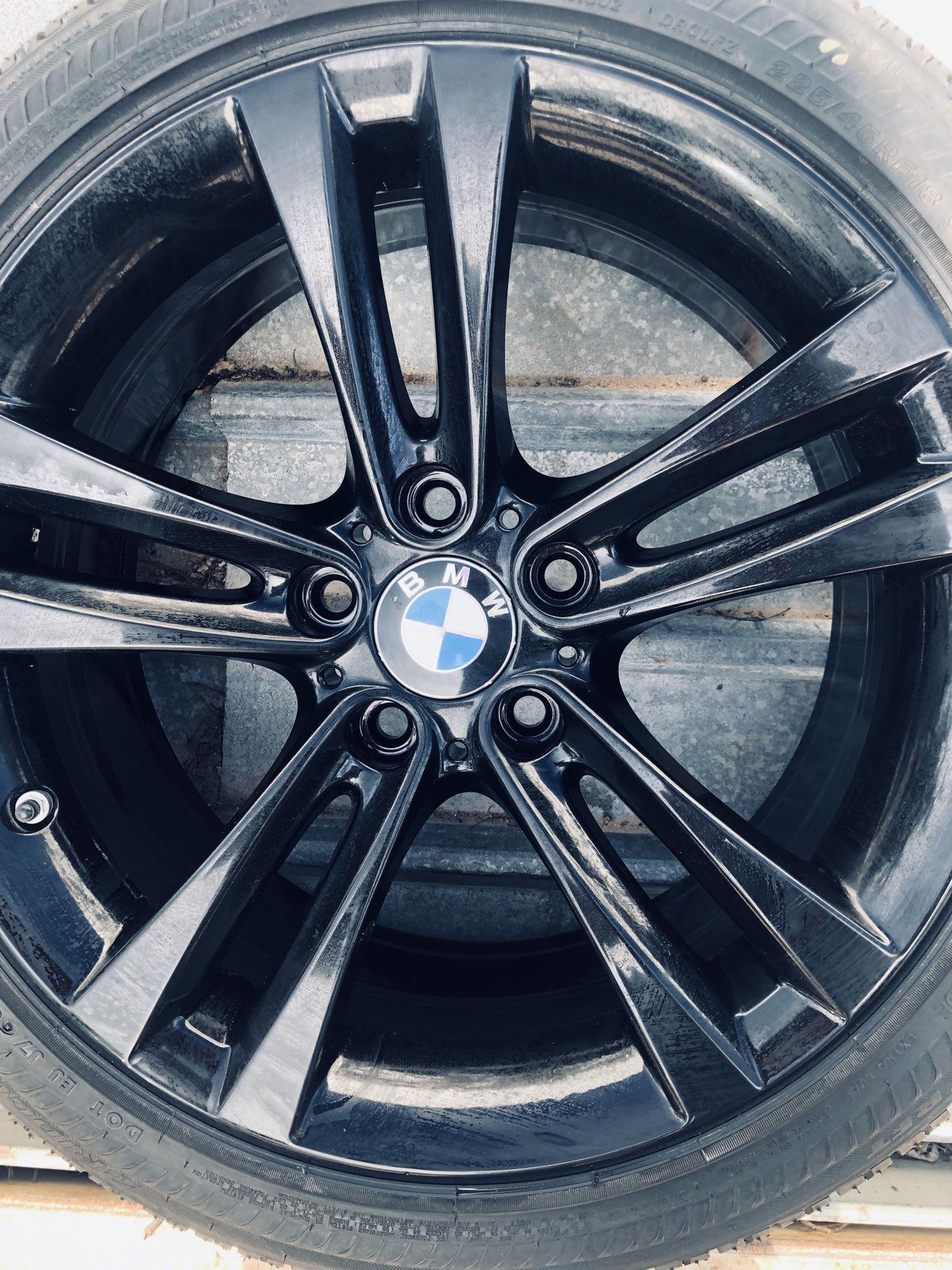 "Refinished 18"" sport wheels bmw"