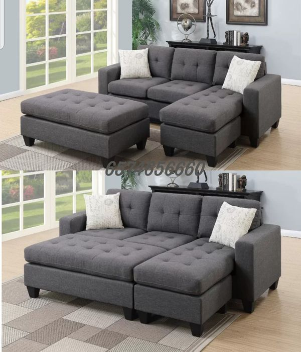 Groovy Grey Sectional Sofa With Ottoman Convertible Sleeper Couch For Sale In Buena Park Ca Offerup Camellatalisay Diy Chair Ideas Camellatalisaycom