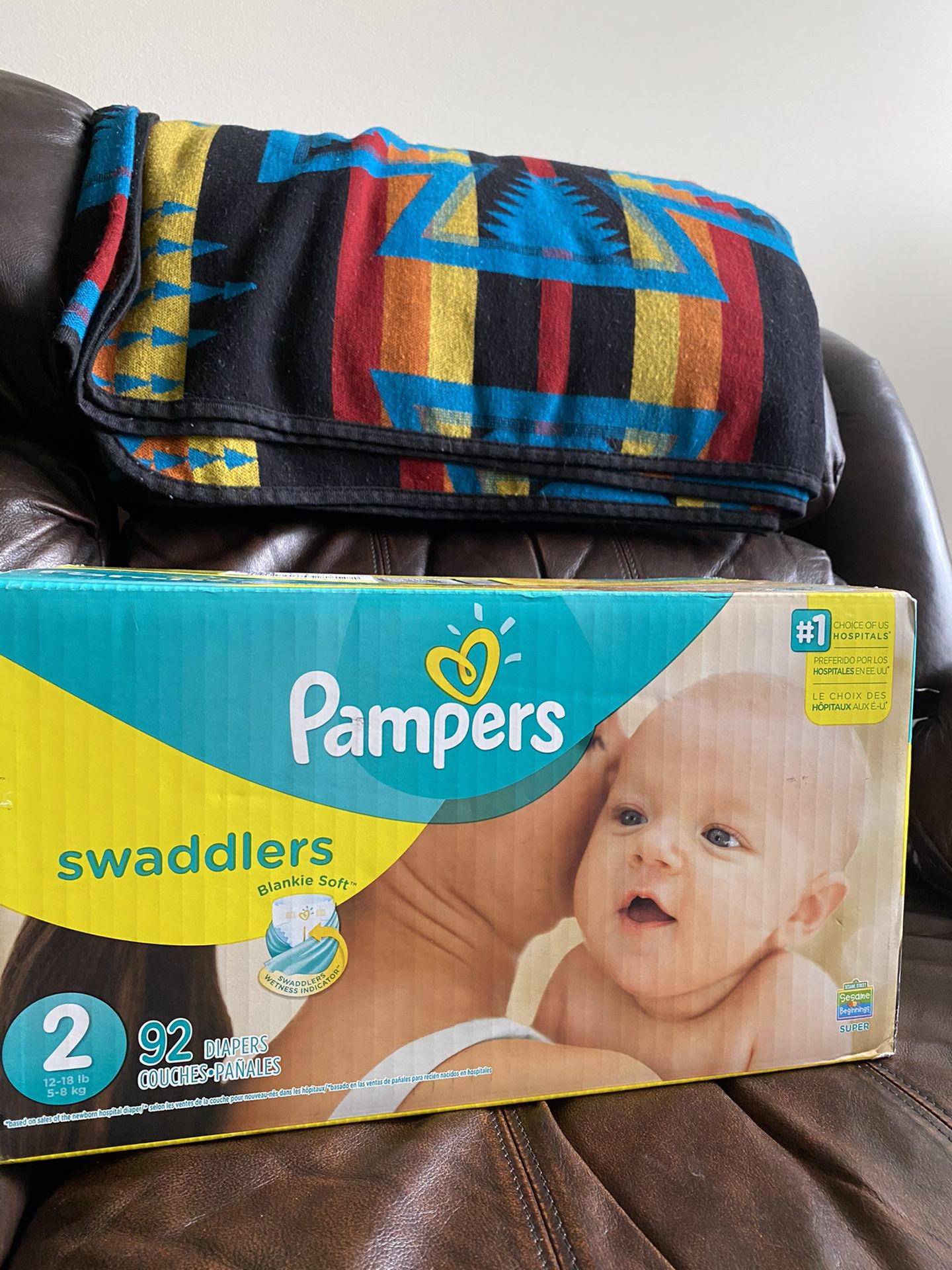 Pampers size 2 Swaddlers Diapers