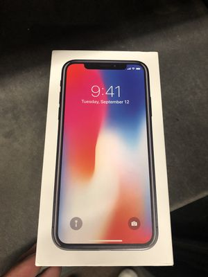 iPhone X 64gb AT&T only and Cricket for Sale in Manassas, VA