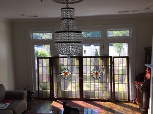 Large antique stained glass window set from Germany for Sale in Alexandria, VA