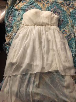 White high low dress Thumbnail
