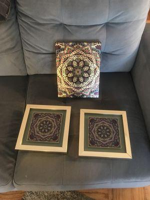 Wall Art Set of Three for Sale in Arlington, VA