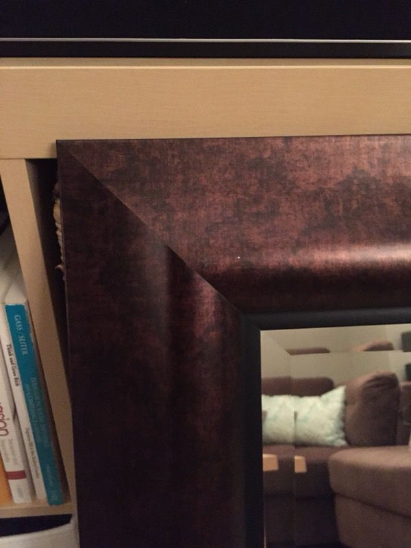 32.5'' X 32.5'' Mirror - Real Wood (Brown)