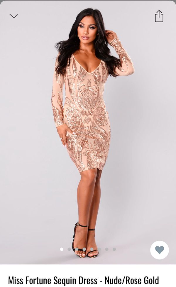 3c9c132a Sequin Rose Gold/Nude Fashion Nova Dress for Sale in Parma, OH - OfferUp