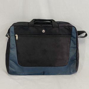 Photo Avenues Utrek Slim Notebook Laptop Computer Bag w/Adjustable Shoulder Strap - Fits up to 17.3 (Black/Blue-Gray)