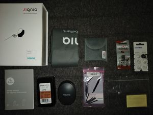 Signia Hearing Aid System; Bluetooth Capable (Never Used) for Sale in Hyattsville, MD
