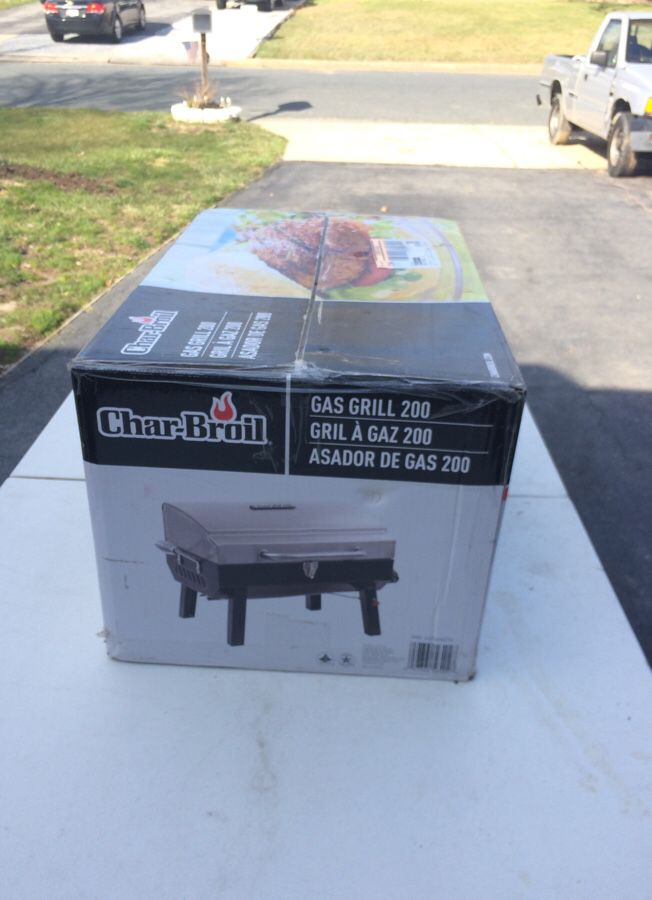 Portable gas grill charbroil brand new in box never opened.