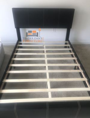 Brand New Full Size Leather Platform Bed for Sale in Wheaton-Glenmont, MD