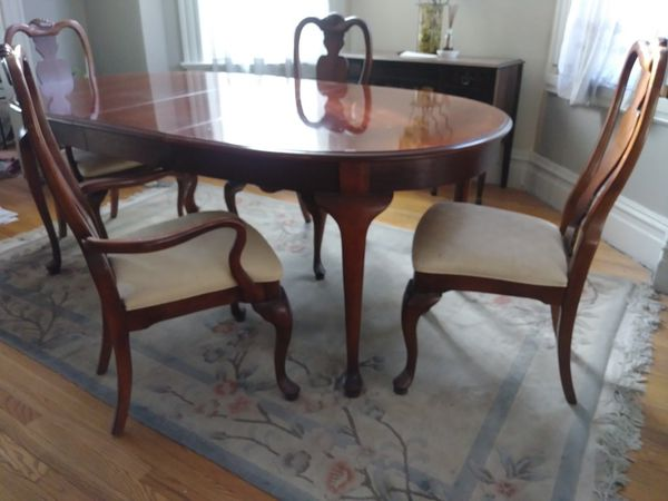 solid cherry dining table & chairs (furniture) in chicago, il - offerup Cherry Dining Table