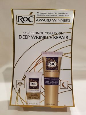 Roc Retinol Correxion Deep Wrinkle Facial Night Cream and Eye Cream for Sale in Martinsburg, WV
