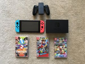 Nintendo switch with games for Sale in Arlington, VA