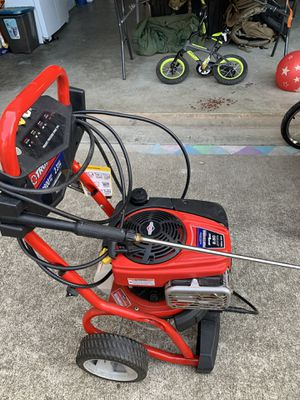 Photo Troy built 8.50 pressure washer and baby trend two seat running stroller