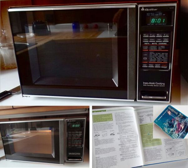 Quasar Microwave Not Heating: Rare Vintage 1981 Original Quasar Microwave Oven In