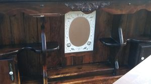 Bed with attaching Mirrors. And night stand for Sale in Petersburg, VA