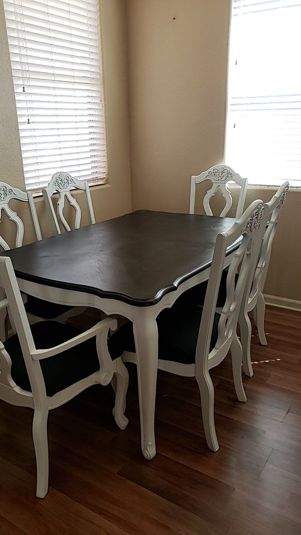 Farmhouse dining table and chairs for Sale in ELEVEN MILE ...