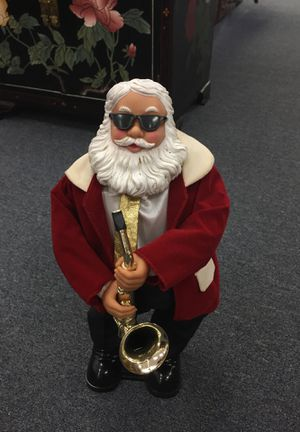 Musical santa playing the saxophone on and off for Sale in Orlando, FL