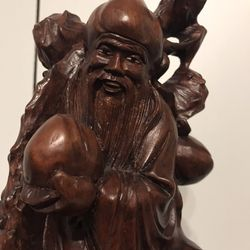 12 inch Vintage Hand-carved Wooden Statue Thumbnail