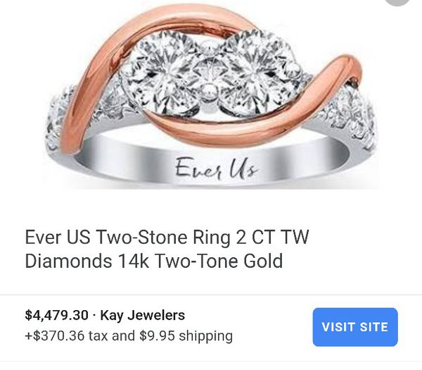 Ever Us Two Tone 14k Diamond Ring For Sale In Grand Prairie Tx Offerup
