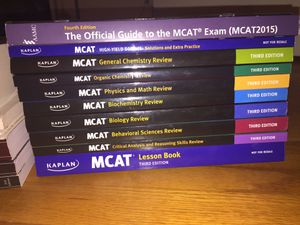 MCAT Prep Books - Everything you will need! for Sale in Bethesda, MD