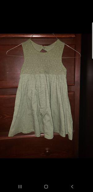 Photo Little Girls Green Dress (4T)