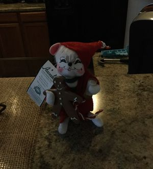 Annalee Christmas mouse with gingerbread cookie for Sale in Mesa, AZ