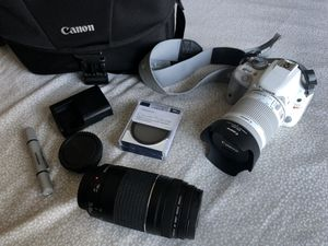 Canon - EOS Rebel SL1 DSLR Camera With EF-S 18-55mm IS STM Lens - White for Sale in Riverside, CA