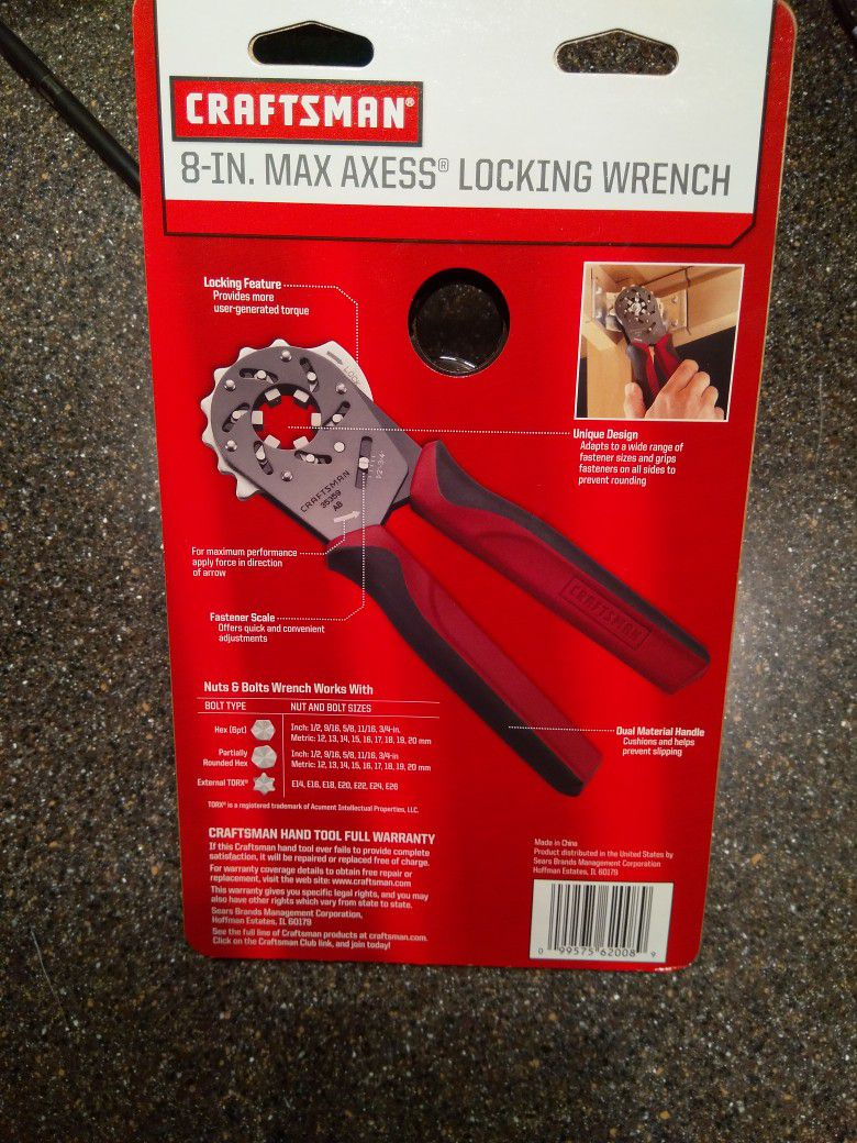 Craftsman Max Access Wrench, 8in NOS