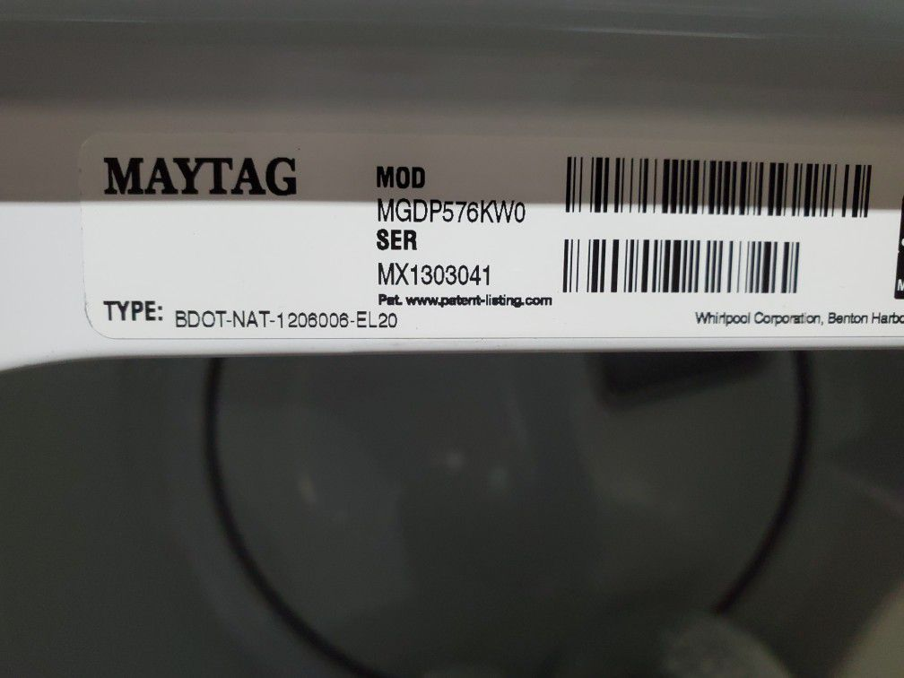 Maytag commercial gas dryer