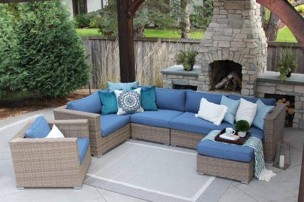 Sunbrella Patio Set Outdoor Furniture New Palmer Henley Set If