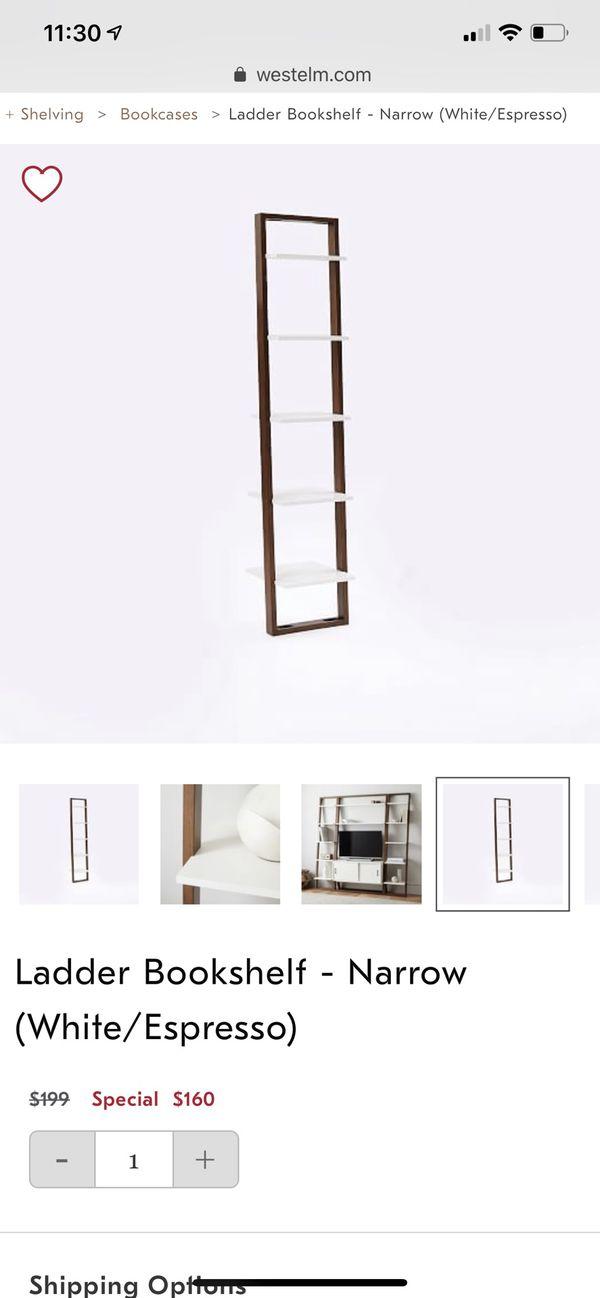 online retailer 5d37c 5c261 West elm ladder bookshelf or bookcase for Sale in Aventura, FL - OfferUp