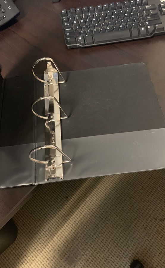 3-ring binders (buy together or separate)