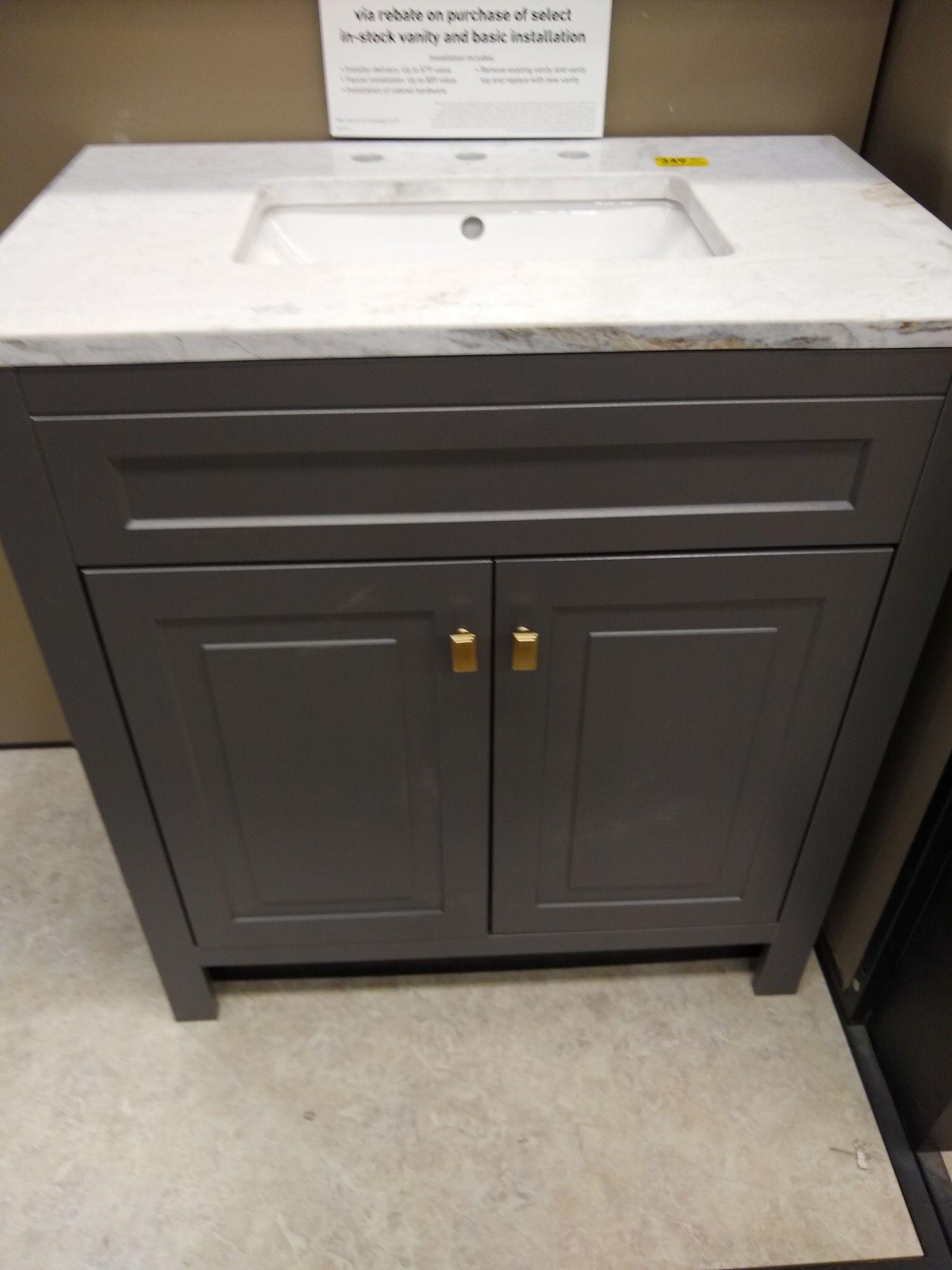 Slate Single Sink Bathroom Vanity, Bathroom Vanities Tucson Az