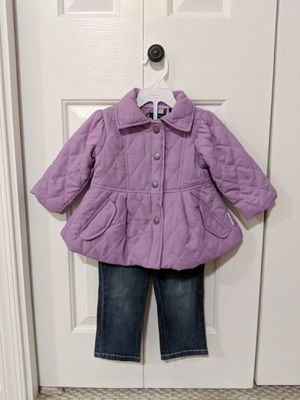 Girls 12 month coordinating Coat and pants by Calvin Klein Jeans for Sale in DULLES, VA