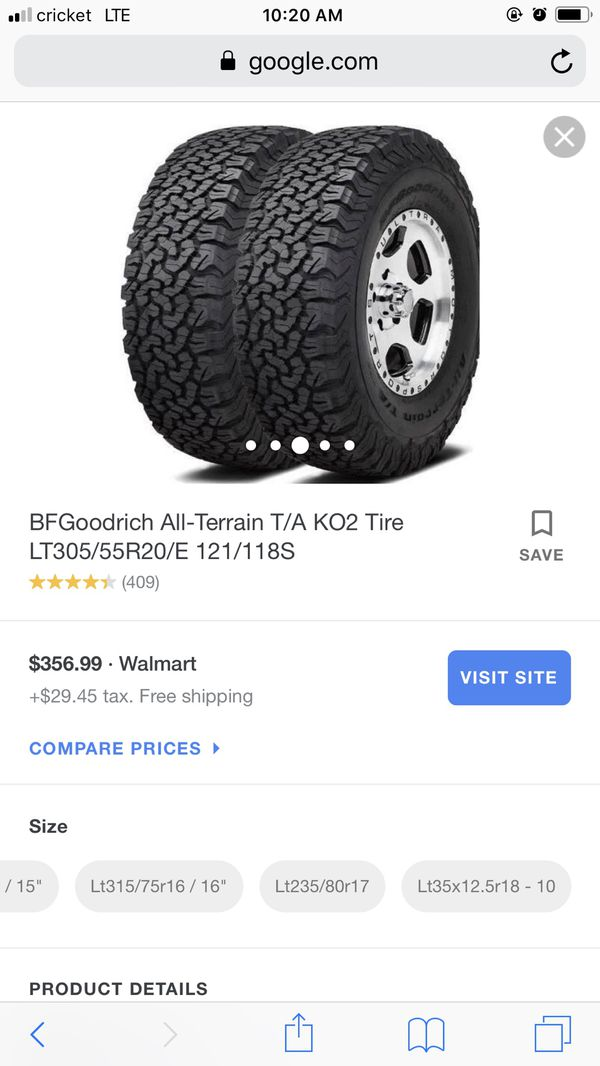 Monster Wheels And Tires Ko2 Lt305 55r20 For Sale In