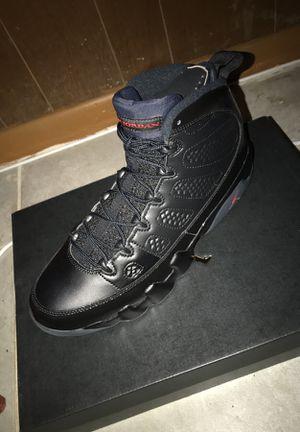 New Jordan 9s all black for Sale in Washington, DC