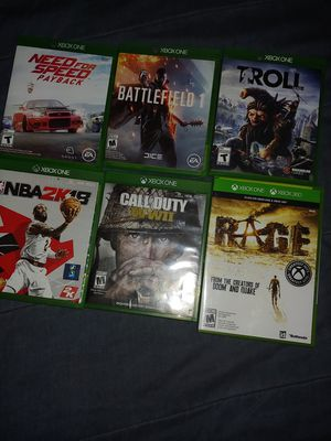 Xbox one games great working condition for Sale in Temple Hills, MD