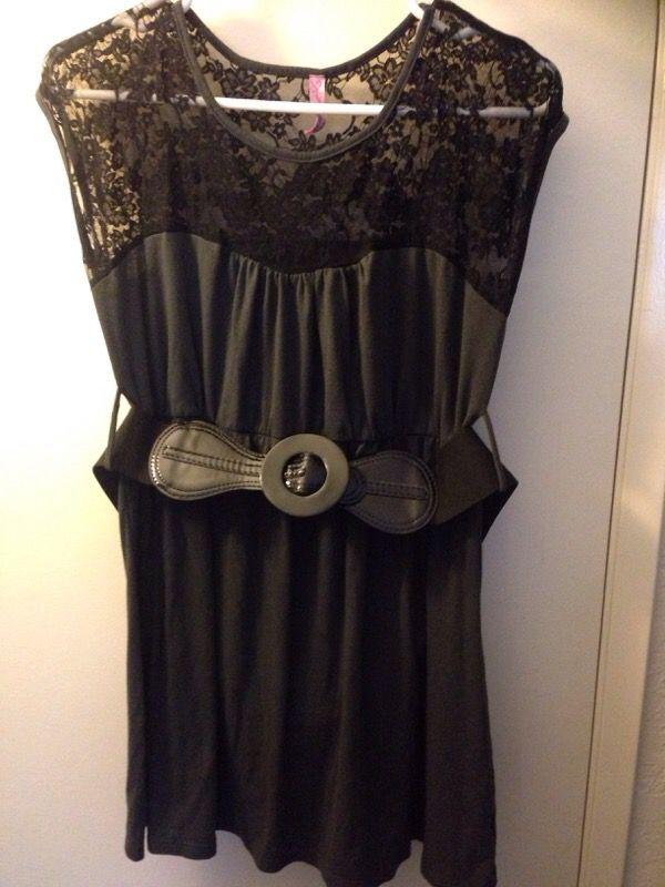 De Colores Gray and Black Dress