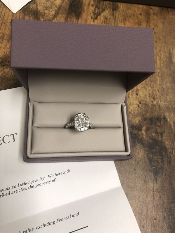 Henri Daussi Diamond Engagement Ring 18k White Gold Size 5 For Sale In Edmond Ok Offerup