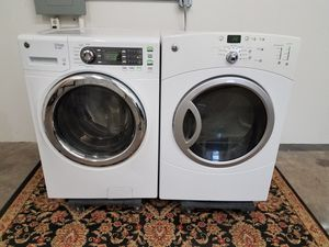 Photo GE Washer And GE Electric Dryer Set, Great Working 👍 Free 🚀 Delivery Same day Or expect To you🚚👷♂️only for first floor & Free installation👨🔧