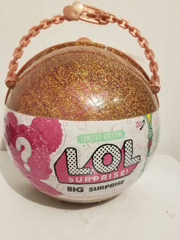 LOL Big Surprise 50 Surprises Doll Limited Edition Gold Ball 100/% Authentic