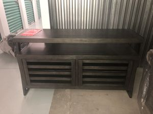 Fairly New Charcoal Gray TV Stand for Sale in Fairfax, VA