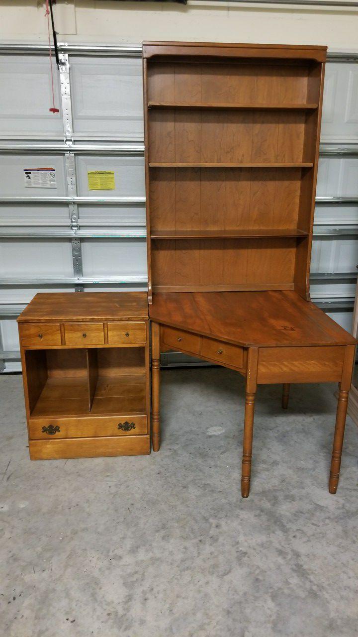Vintage Ethan Allen Maple Corner Desk Office Furniture For Sale In Orlando Fl Offerup