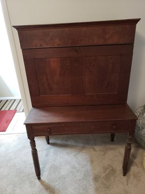19th Century Handmade American Mahogany Writing Desk Cabinet. for Sale in Gaithersburg, MD