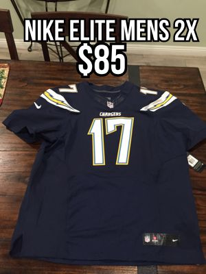 NFL Nike elite Los Angeles Chargers #17 Phillip Rivers blue men's jersey size 2x (52) for Sale in City of Industry, CA