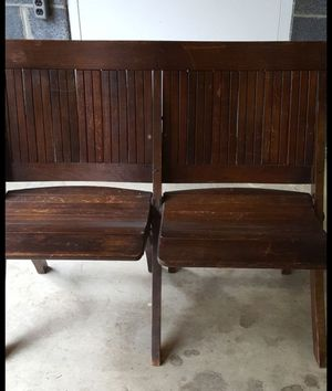 Antique foldable double chair for Sale in Arlington, VA
