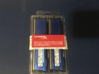 Kingston HyperX Fury 2x4 GB DDR3 1866Mhz PC memory Thumbnail